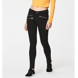 New LF Carmar black Zipper motorcross jeans 28